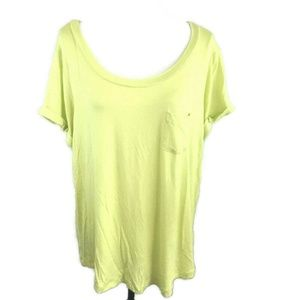 Simply Emma Pocket T-Shirt Celery Green High Low